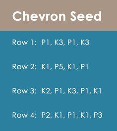 iHow to Knit the CHEVRON SEED Stitch by Studio Knit
