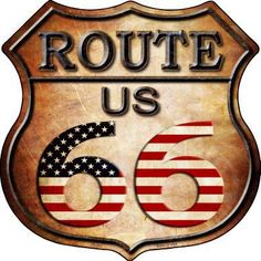 Route 66 Theme, Route 66 Map, Route 66 Attractions, Route 66 Road Trip, Custom Radio Flyer Wagon, Vinyl Lettering, Vintage Metal, Vintage Posters, American Flag
