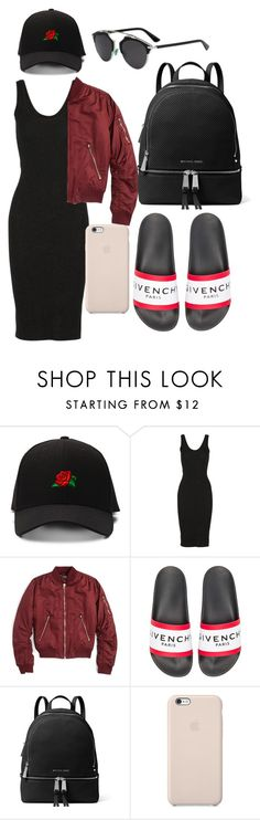 """airport"" by paige2015 ❤ liked on Polyvore featuring Enza Costa, Topshop, Givenchy, MICHAEL Michael Kors and Black Apple"