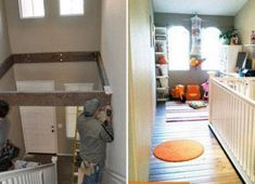 Turn Dead Space Above A Staircase Into a Playroom - ugh. if ever I get a house with this stupid lack of space, I am so putting my future husband to work. Dead Space, Attic Renovation, Attic Remodel, My Dream Home, Dream Big, Home Projects, Home Remodeling, Kitchen Renovations, Kitchen Remodel