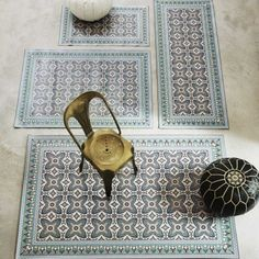 Moroccan Tile Mats - Rugs & Animal Skins - Soft Furnishings - Sofas & Upholstery
