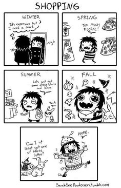 Doodle Time with Sarah Anderson. Funny Shit, Funny Cute, The Funny, Funny Memes, Hilarious, Jokes, Funny Gifs, Sarah Anderson Comics, Sara Anderson