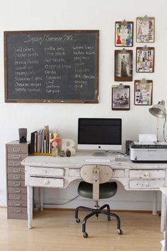 artsy workspace | via RedBird Paperie