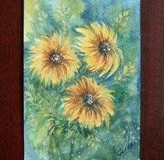floral art painting original (ref 800) £6.00