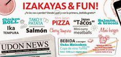 """Nuestro amigo diseñador y escritor Daniel Ramos de @Alfredo Malatesta Asensio Garabato nos ha dedicado esta reseña de la degustación de las nuevas Izakayas & Fun: """"De tapas por Udon"""" ¡Gracias!"""