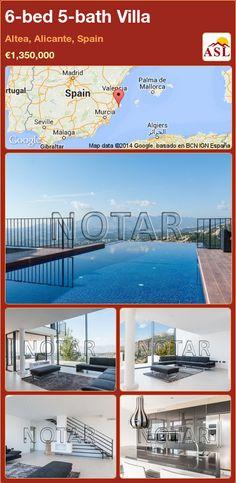 6-bed 5-bath Villa in Altea, Alicante, Spain ►€1,350,000 #PropertyForSaleInSpain