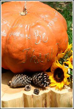 Thanksgiving Family Tradition Ideas & Thankful Pumpkin Idea