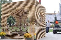 Hegemonikon. Ganador del Concurso SukkahVille 2012 en Toronto. Obra de Christina Zeibak y Daphne Dow
