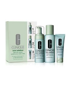 Acne+Solutions+Clear+Skin+System+Kit+by+Clinique+at+Neiman+Marcus.
