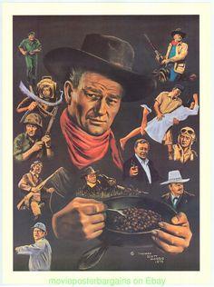 A mess of characters of John Wayne Actor John, John Wayne, Classic Films, American Idol, Duke, My Hero, Westerns, Actors, Lorraine