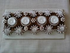 Advent Wreath, Candies, Gingerbread, Clay, Wreaths, Holidays, Christmas, Food, Wafer Cookies