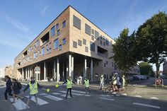 Completed in 2016 in Aarhus, Denmark. Images by Hufton + Crow, Virklund Sport , Jens Peter Engedal. Designed by Henning Larsen Architects and GPP Architects Danish School Building of the Year, Frederiksbjerg School, is the first school in Denmark to...