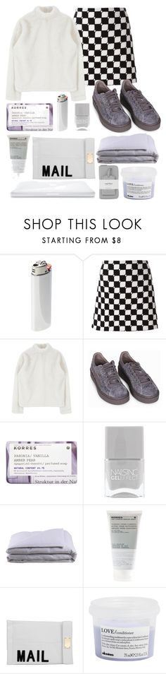 """""""I just..."""" by lickmyaes ❤ liked on Polyvore featuring Vetements, Courrèges, Puma, Korres, Nails Inc., Frette, Akira, Davines and Warehouse"""