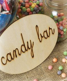 Look at this 'Candy Bar' Sign on #zulily today!