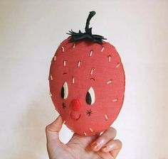 misako mimoko: New Fruit Wall Hooks / Strawberry / #decor #hook