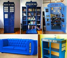 dr who ideas - I like the idea of a Dr Who wine cabinet