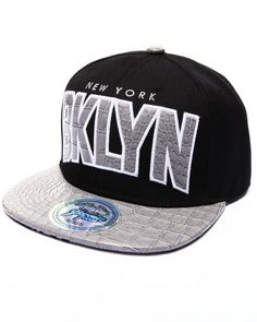Buyers Picks - Brooklyn Hometown Croc Embossed Visor Snapback Hat 236462b8b32