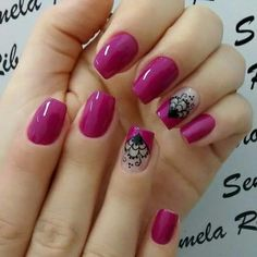 New nails acrilico rojas ideas Nail Tip Designs, Pretty Nail Designs, Colorful Nail Designs, Oval Nails, Toe Nails, Nail Polish Art, Nail Art, Classy Nails, Fabulous Nails