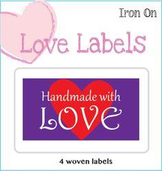 Purple Lovelabel Handmade with Love
