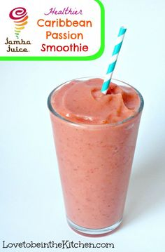 Healthier Caribbean Passion Smoothie- My favorite smoothie recipe!