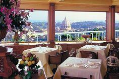 La Pergola, Rome Cavaliere Hilton Hotel . . . I threw the coins in Trevi. I will return.