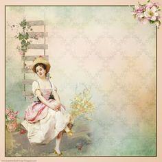 Creative digi vintage: FREE DIGITAL SCRAPBOOK PAPER: MAGICAL SPRING MOMEN...
