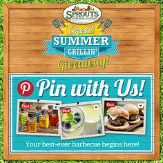 Don't forget to enter your Great Summer Grillin' Board! You could win one of ten stainless steel grills courtesy of @spicehunter - Sprouts Farmers Market #greatgrillin