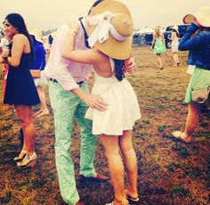Every Sorority girl needs a Fraternity boy. Pike & Alpha Phi at Carolina Cup 2014. ECU.