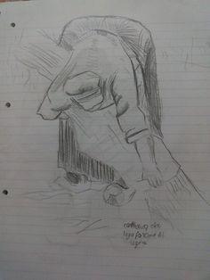 Martina Benedusi - Contadina che lega una fascina di legna, copia del quadro di Vincent Van Gogh