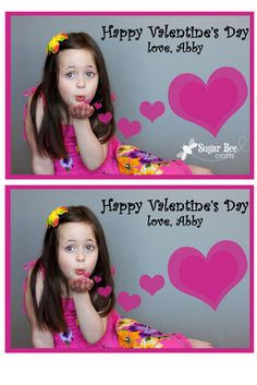 """""""blowing a kiss"""" Photo Valentine's ~ Sugar Bee Crafts"""