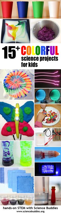Explore colorful #science with hands-on #STEM activities. Projects like these can be great for families, classes, and groups! [Science Buddies, http://www.sciencebuddies.org/blog/2016/05/colorful-stem-projects-for-summer-science-fun.php?from=Pinterest] #scienceproject #familyscience #summerscience
