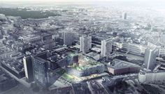 BIG, OMA, Büro-OS To Compete for New Media Campus in Berlin,Proposal from BIG. Image © BIG-Bjarke Ingels Group