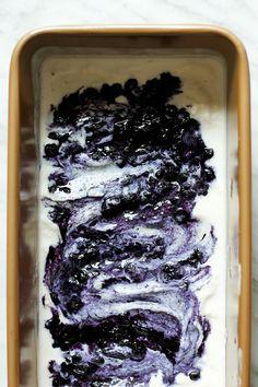 Blueberry Lavender Coconut Ice Cream