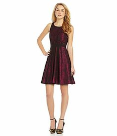 Jessica Simpson Floral FitandFlare Dress #Dillards