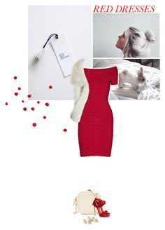 """Untitled #434"" by klmentina-katavic ❤ liked on Polyvore featuring Hervé Léger, Calypso St. Barth, Reiss, Casadei, women's clothing, women, female, woman, misses and juniors"