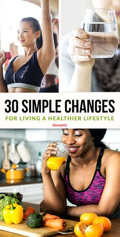 These simple changes for living a healthier lifestyle will change your life if you remain consistent! Start with a few and add in a few extra each week! Healthy Brunch, How To Stay Healthy, Healthy Meals, Healthy Recipes, Back Fat Workout, Workout For Flat Stomach, Fitness Diet, Health Fitness, Beginner Workout At Home