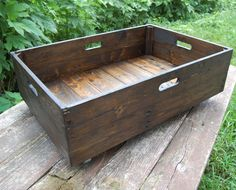 Under Bed Storage Rolling Crate/ Reclaimed by LooneyBinTradingCo, $138.00