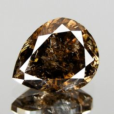 57cts Pear Brownish Champagne Natural Loose Diamond