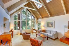 We sure do love this Mill Valley A-frame home with its high ceilings, windows, and skylights. Views and natural light = A+.   http://pacunion.us/145marguerite   #MillValley #realestatevision #pacificunion #envisionextraordinary