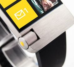 Microsoft Windows Phone smartwatch mockup