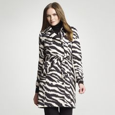 Zebra Print Trench Coat, I might need this