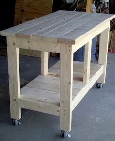 EZ 2 x 4 and 2 x 6 Island or Workbench #WoodWorkingToolsWorkbenchIdeas