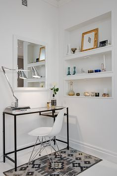 Studio apartment workspace
