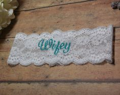 Personalized Garter Embroidered / by GillyflowerGarters on Etsy