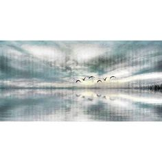 Parvez Taj Birds Skylight Art Print on Premium Canvas, Size: 45 inch x 22.5 inch, Multicolor