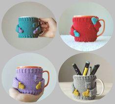 capa para canecas tricô - sueter com luva
