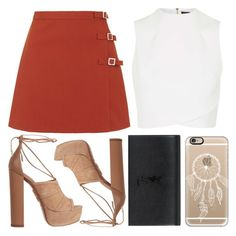 """""""♡"""" by brenndha ❤ liked on Polyvore featuring Topshop, Aquazzura, Yves Saint Laurent, Casetify, GetTheLook, StreetStyle, gorgeous and Luxe"""