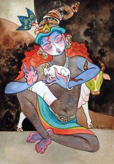 pepupstreet.com, #krishna, #god, #India, #contemporaryart, #walldecor, #art, #artwork