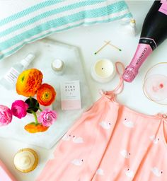who needs a spa when you have candles, beauty treatments and playful pjs? and cupcakes, of course.