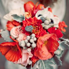 A poppy red and mint wedding inspiration board (image via Brent Van Auken Photography)